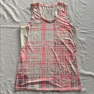 Pink/white/black pink Brooks Athletic Top Small